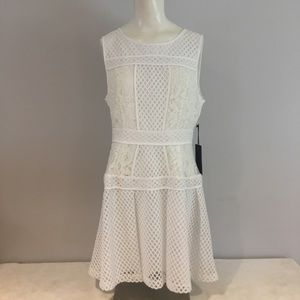 NWT Forever 21 White Lace and Mesh Dress